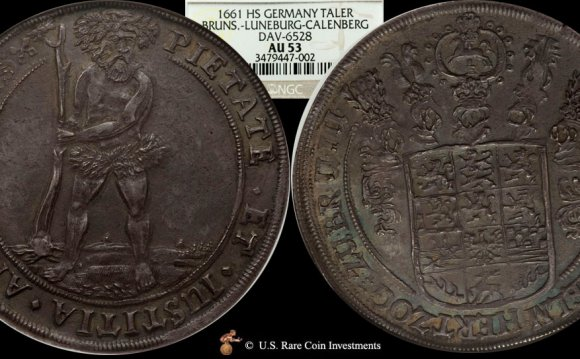 1661-HS Germany Taler Wildman