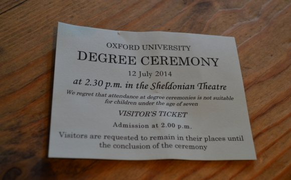 Degree Ceremony ticket Walsh