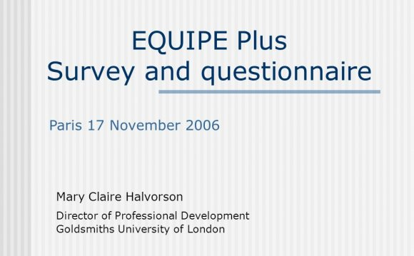 EQUIPE Plus Survey and