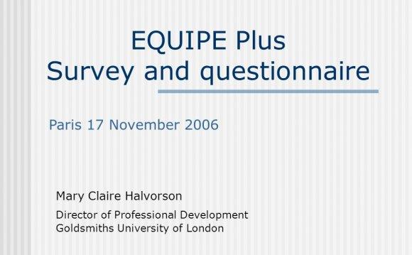 EQUIPE Plus Survey and