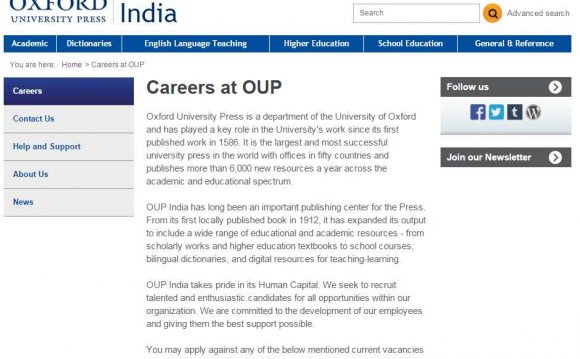 Jobs at University of Oxford